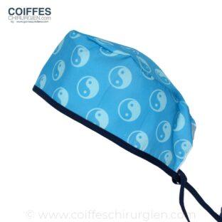 Calot Chirurgical Fantaisie Yin Yang Bleu 664