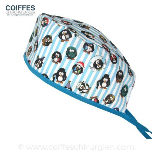 calot-de-chirurgien-fantaisie-pingouins-bandes-bleues-715