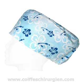Calots Chirurgie Bleus Fleurs Aquarelle Hawaii - 385