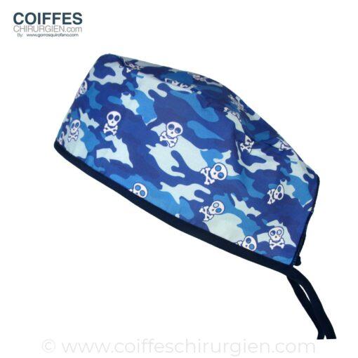Calots Chirurgie Skulls Camouflage bleu - 854