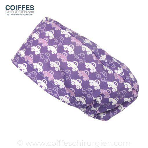 calots-chirurgien-tissu-voitures-violet-196