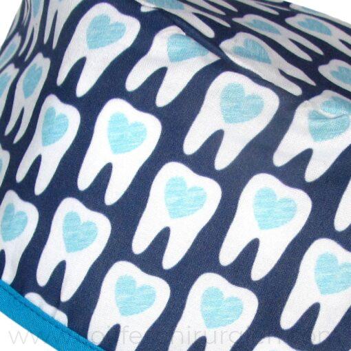 calots-dentistes-fantaisie-coeurs-bleus-802