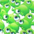 calots-pour-chirurgiens-fantaisie-aliens-yeux-verts-271