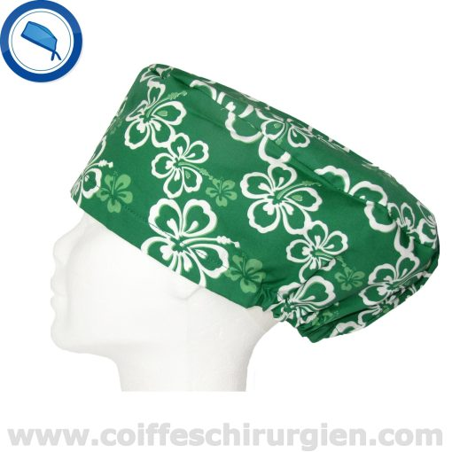 Calots chirurgicaux verts Hawaii Cheveux longs 220