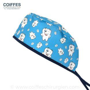 Coiffe Chirurgien Drole Dent Molaire Dentiste Bleu 638