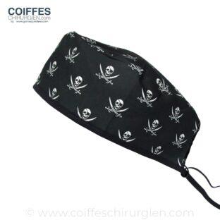 Coiffe Chirurgien Noir Drapeau de pirate 593