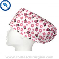 Calot Chirurgical Coccinelles Rose Jaune